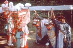 奈良尾の獅子舞